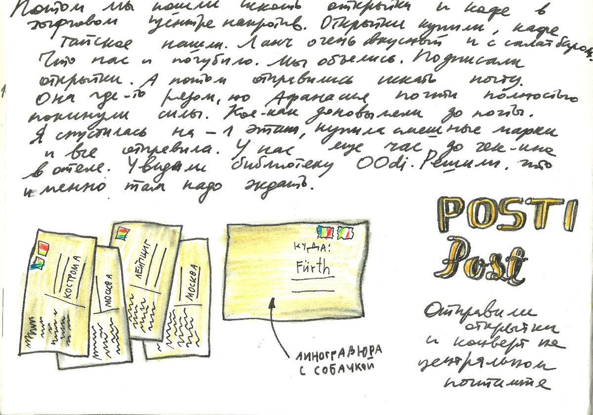 Блог Кати Осиной. Рисунки из путешествий. Прогулки по Хельсинки