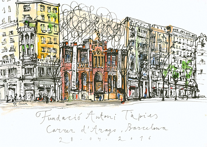 Блог Кати Осиной. Рисунки из путешествий. Каникулы в Барселоне, апрель 2016.